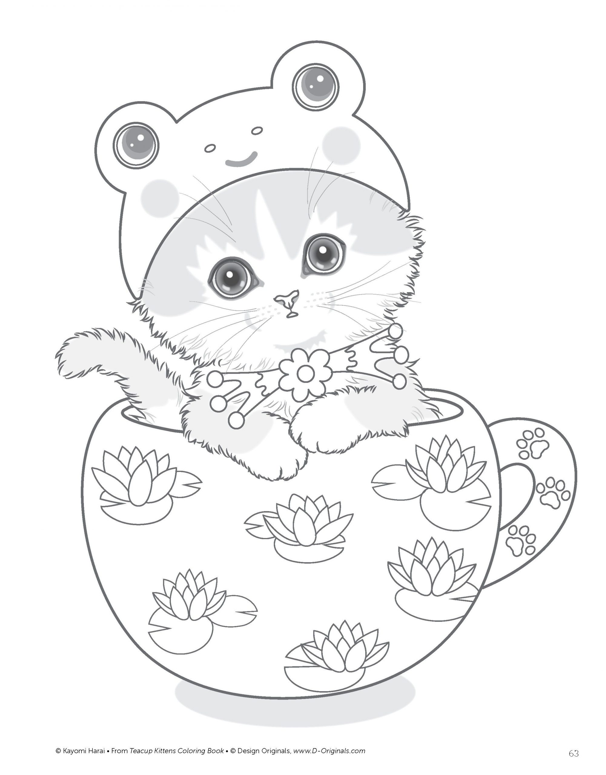 teacup kittens kayomi harai kitten coloring book