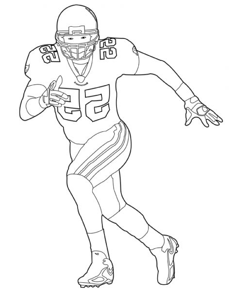 the best football player coloring pages httpcoloring