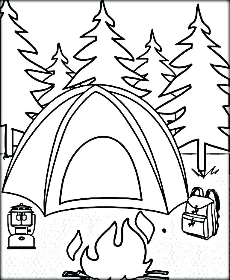 Camping Coloring Pages Collection Whitesbelfast