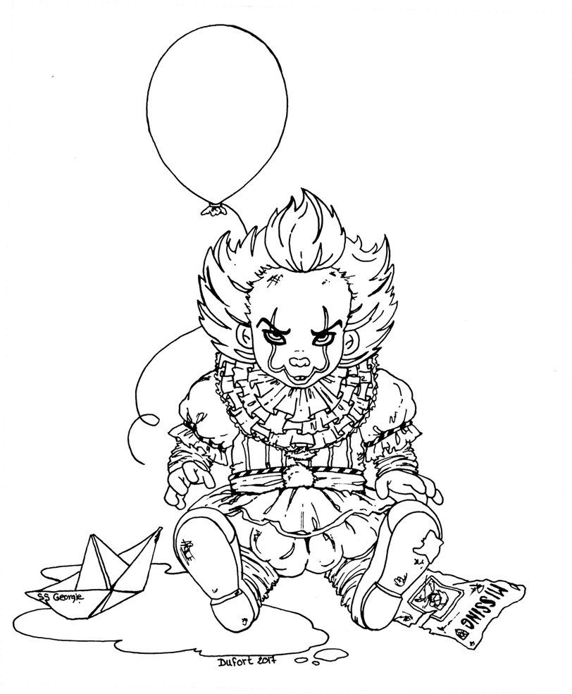 traditional art ink pennywise and it belong to