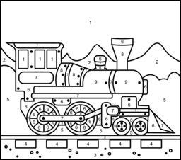 train coloring page printables apps for kids