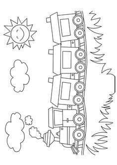 train tracing train fun for kids train coloring pages