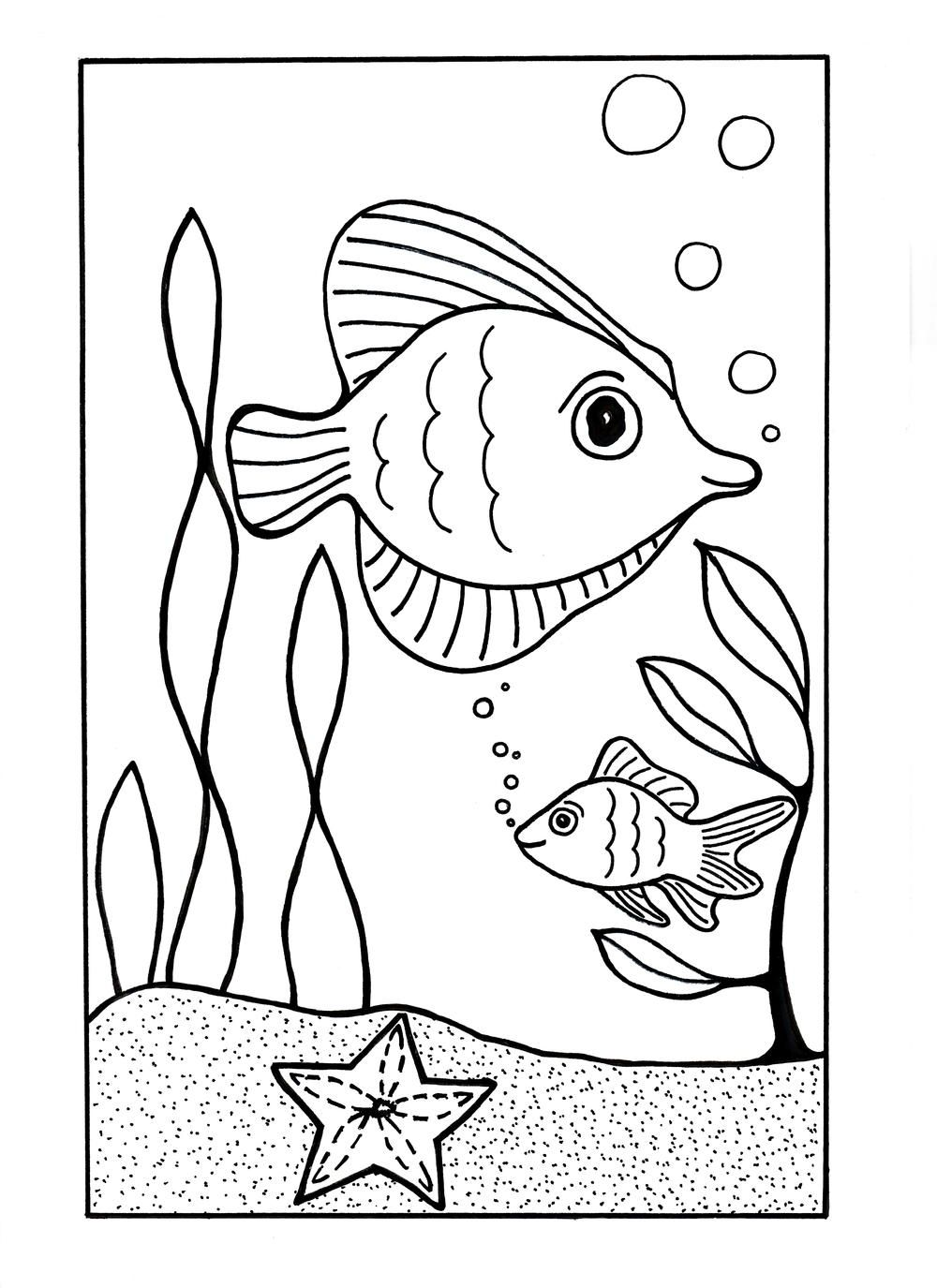 under the sea coloring page ocean coloring pages fish