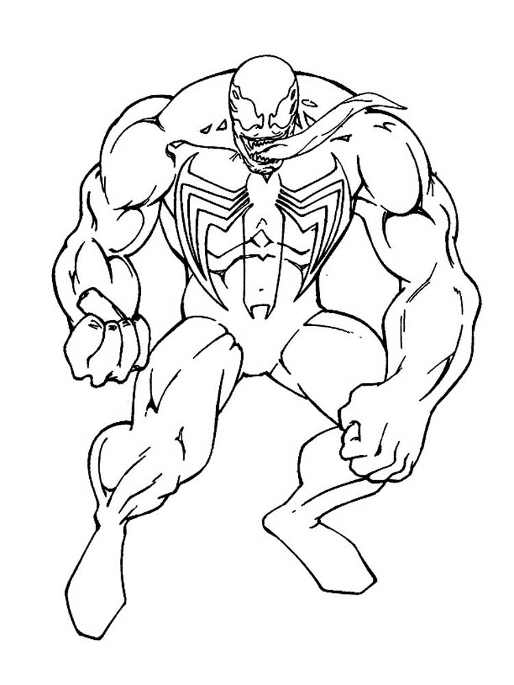 venom coloring pages download and print venom coloring pages
