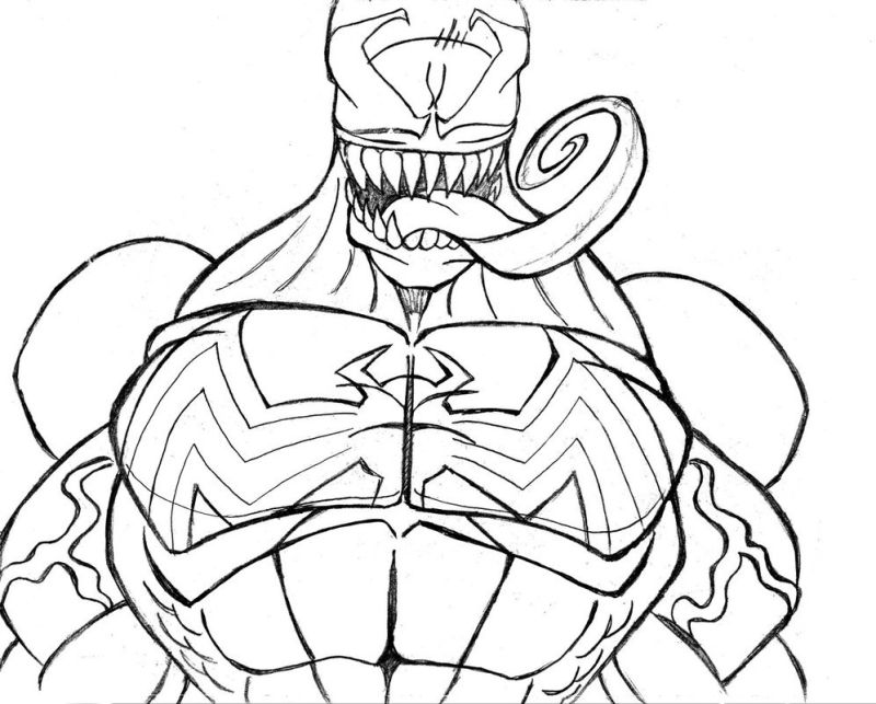 venom coloring pages free download on clipartmag