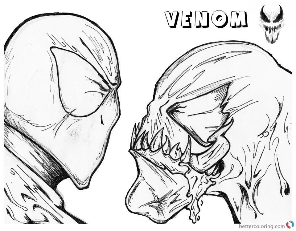 venom face drawing at getdrawings free download