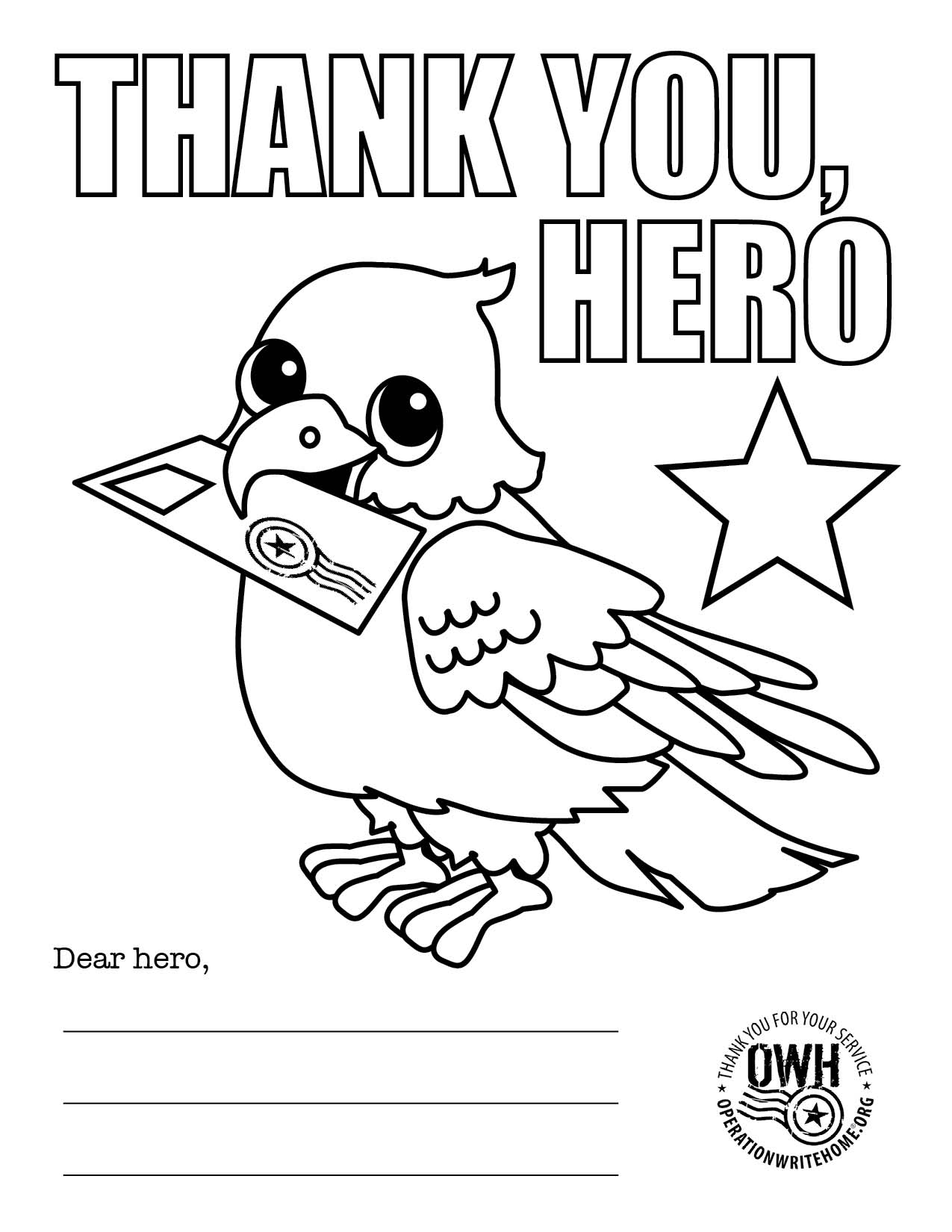 veterans day thank you coloring page getcoloringpages