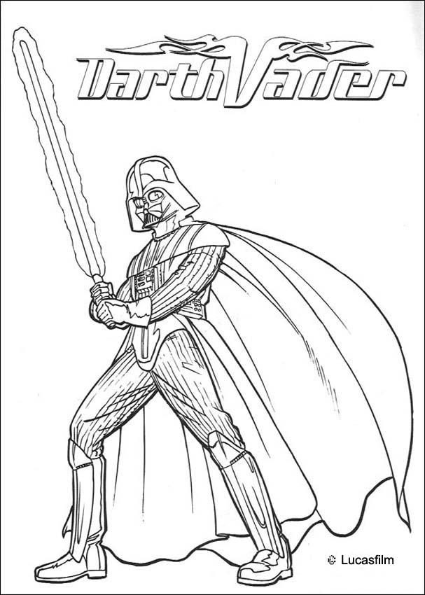 war armor of darth vader coloring pages hellokids