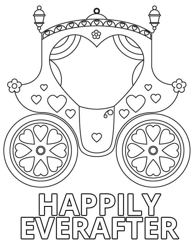wedding carriage coloring page wedding coloring pages