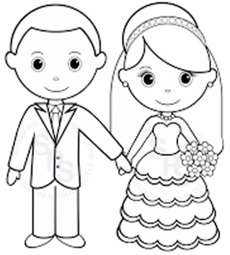 wedding couple coloring pages at getcolorings free
