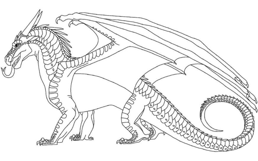 wings of fire seawing coloring pages at getdrawings free