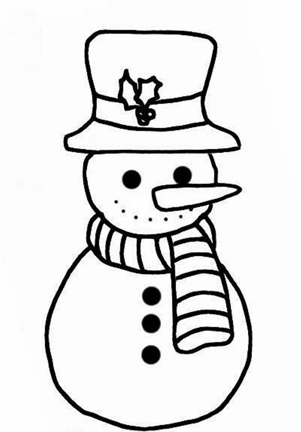 winter coloring simple snowman coloring pages for kids