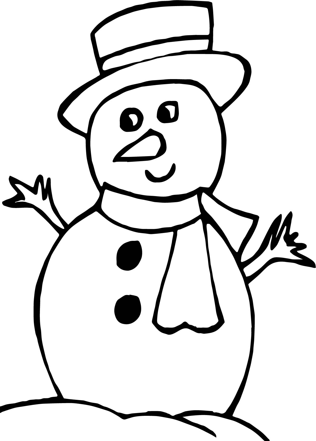 winter looking snowman coloring page wecoloringpage