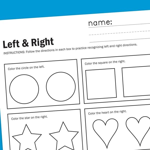 directional worksheet worksheets for children
