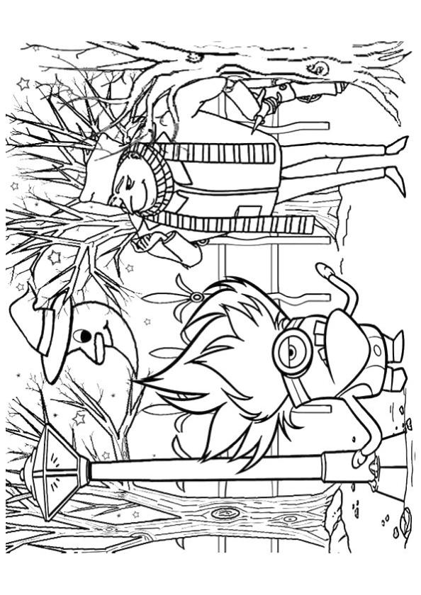 get this minion coloring pages halloween printable