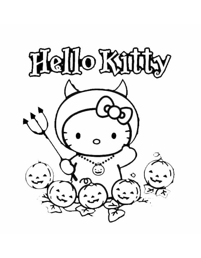 hello kitty halloween coloring pages halloween coloring