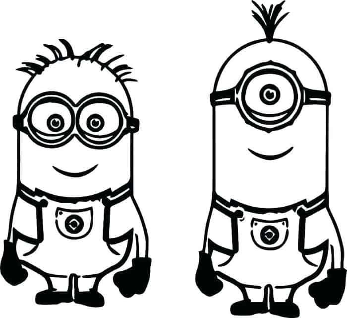 minion coloring pages pdf in 2020 minion coloring pages