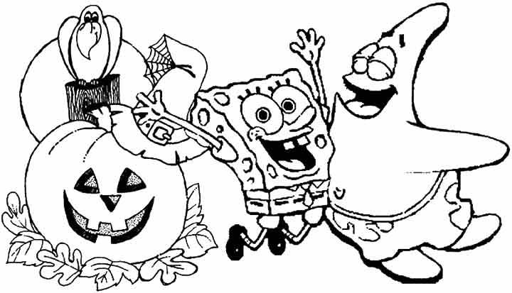 spongebob halloween coloring pages at getdrawings free