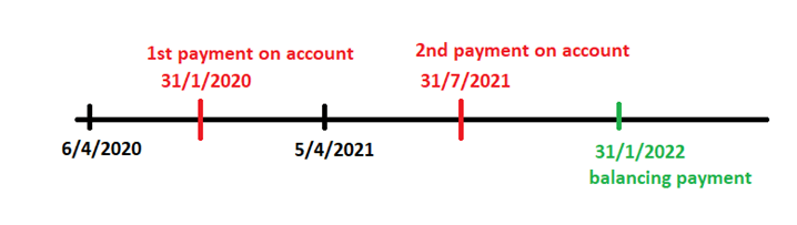 self-assessment second payment on account