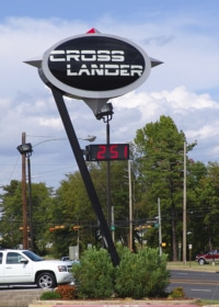 Auto Dealership pylon sign, Texarkana, TX