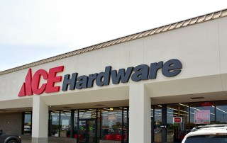 ACE Hardware Building Sign. New Boston, TX