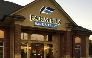 Farmers Bank and Trust Building Sign. Texarkana, TX
