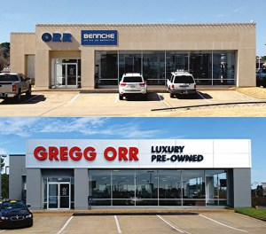Gregg Orr Luxury Pre-Owned Storefront Sign and Fascia, Shreveport, LA