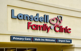 Lansdell Family Clinic Building Sign. Texarkana, AR