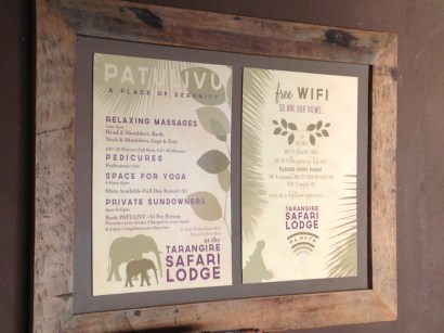 Displaying some our work at the lodge