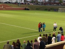 My parents and sister at Senior Night