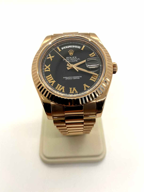 Rolex Men's Rose Gold Day-Date II 41MM Watch