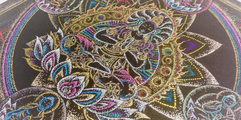 点描曼荼羅の描き方