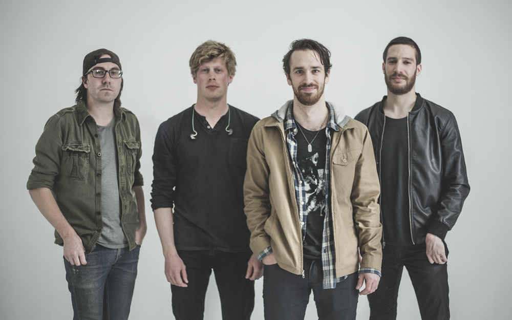 Pop rockers VALLEYHILL pose at the The White Wall Sessions in Sioux Falls