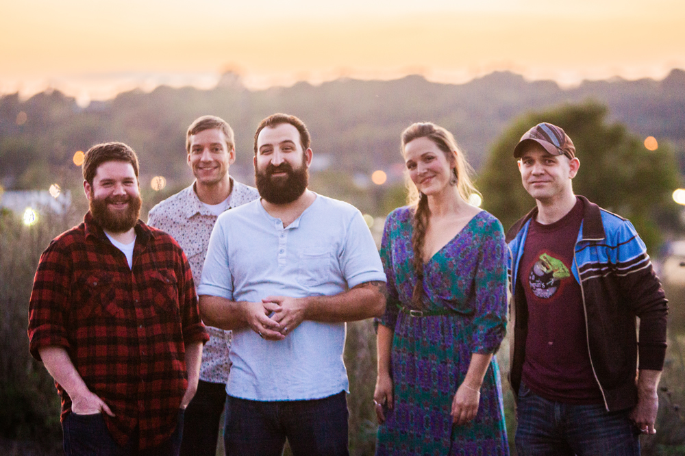 Sioux Falls' Burlap Wolf King, full band, Season 2 outside Sioux Falls.
