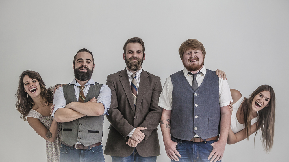 Nashville's folk group, Forlorn Strangers, pose at The White Wall Sessions in Sioux Falls