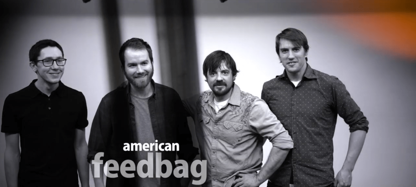 Madison, Wisconsin's American Feedbag stands smiling in a line.
