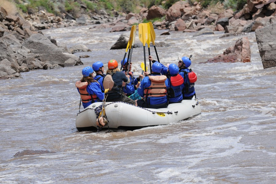 Family vacation ideas in Central Colorado: Whitewater rafting.
