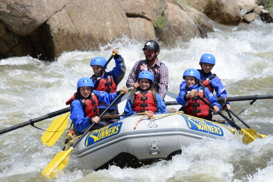 Whitewater rafting in Colorado.