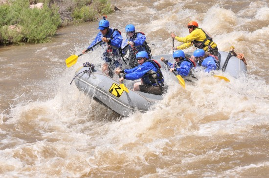 High water whitewater rafting trips