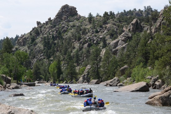 Colorado whitewater rafting guide.