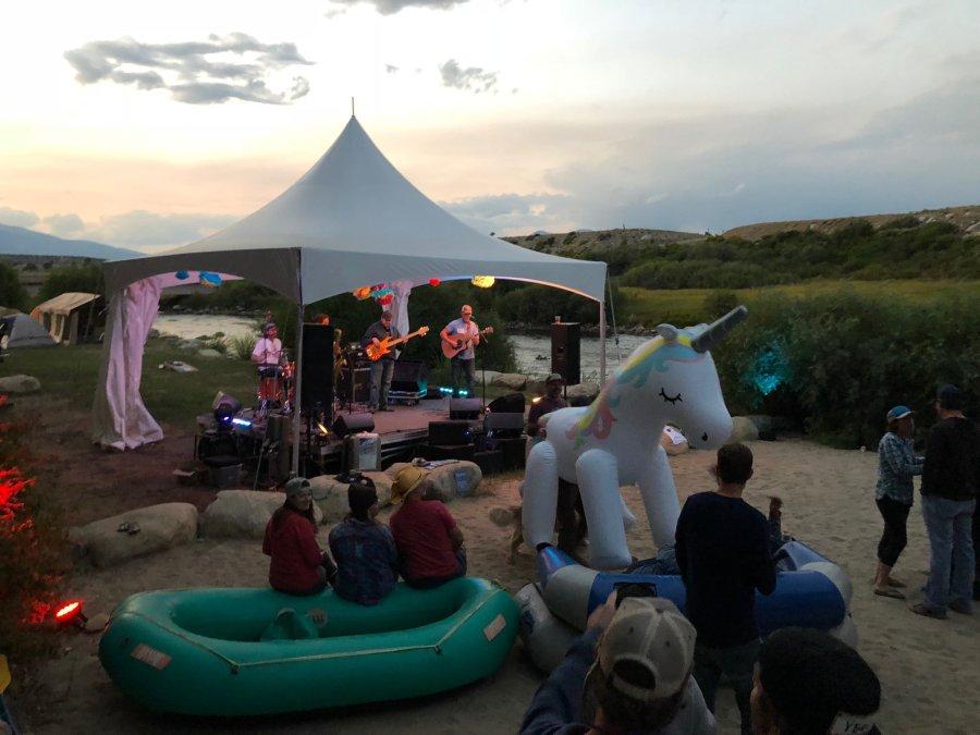 Live music in Buena Vista, Colorado.