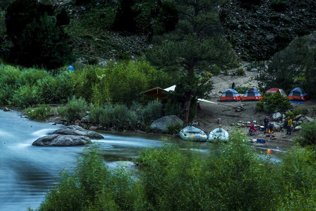 Overnight rafting in Browns Canyon National Monument.