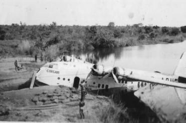 ADVB Corsair beached at Faradge