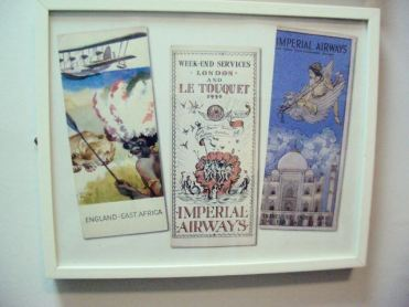 posters of Imperial airways services in the 1930s