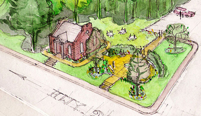 Hillsdale-Town-Hall-Public-Garden