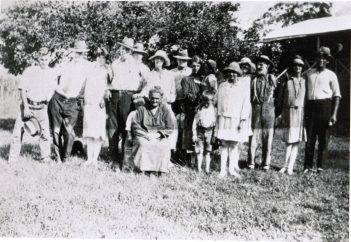 The Drinkwater family at Kelsey Creek circa 1928