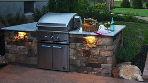 5 Must Have Landscaping Features For Your Custom Home ... on Built In Grill Backyard id=61691