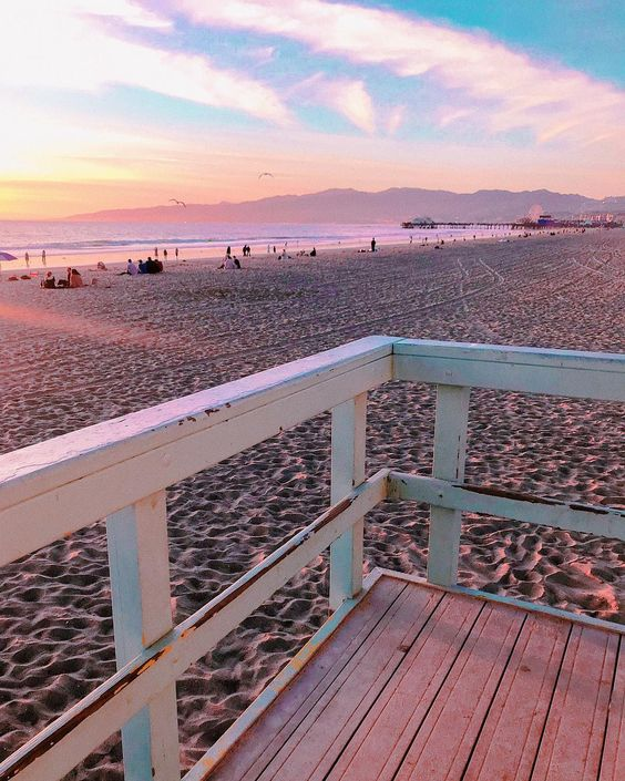 Santa Monica Sunset | Whitneybearr