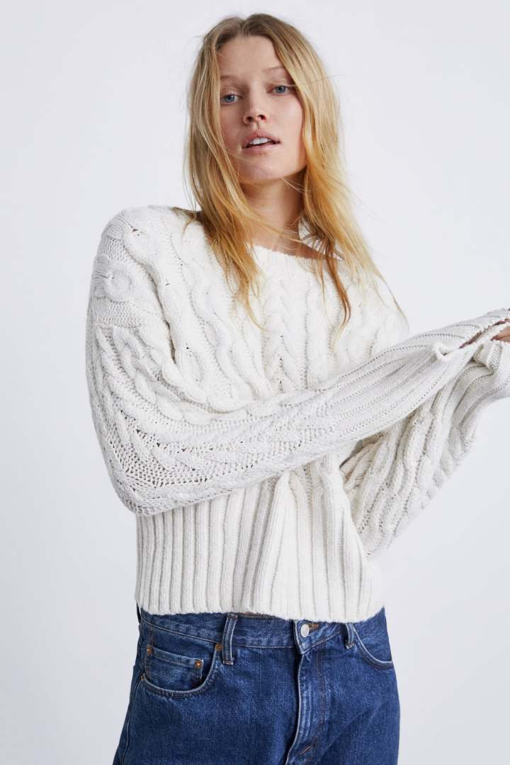 ZARA - CABLE KNIT SWEATER