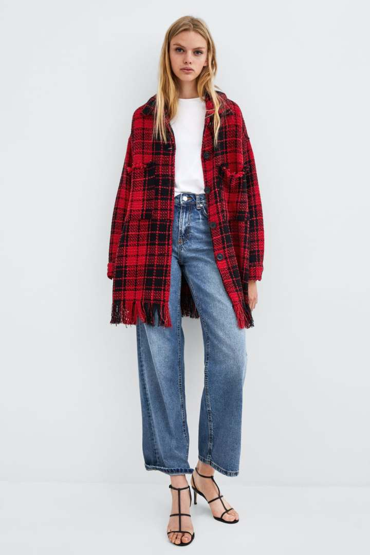 ZARA - PLAID TWEED OVERSHIRT